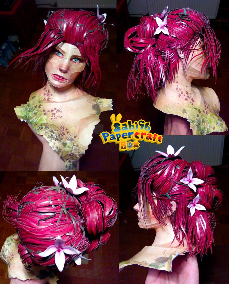 Poison Ivy (Arkham Knight) Papercraft WIP - Head by Sabi996