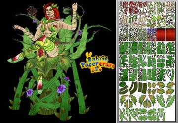 Poison Ivy (Injustice 2) Papercraft + Unfold Info by Sabi996