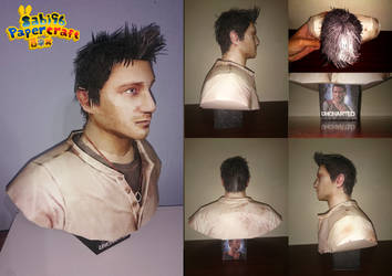 Nathan Drake (Uncharted) Bust Papercraft by Sabi996