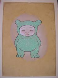 green cub aquarel