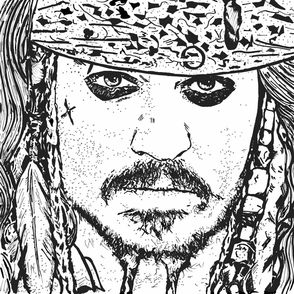 Disney Infinity Jack Sparrow Coloring Pages