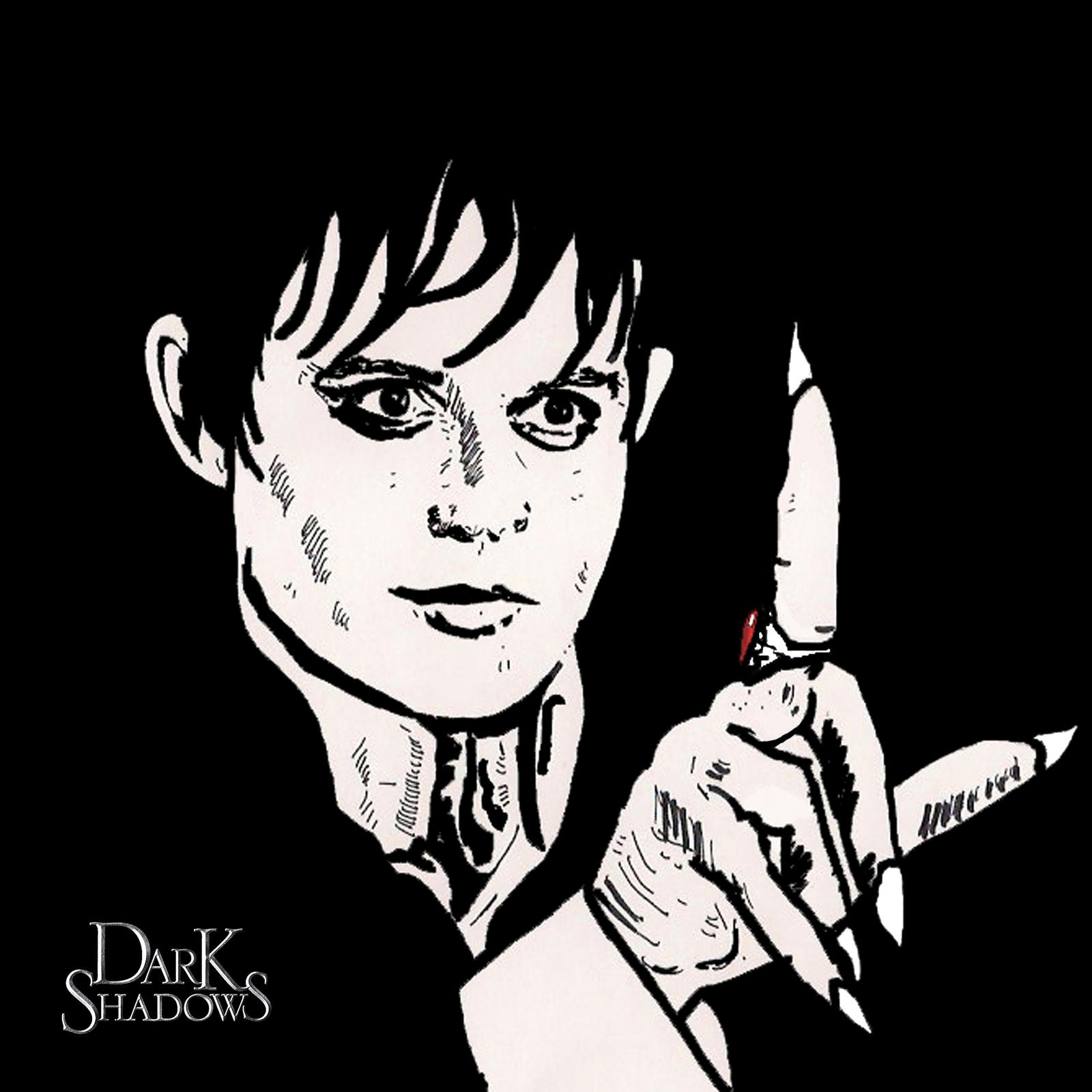 2nd sharpie pen drawing..Barnabas by ladyjart