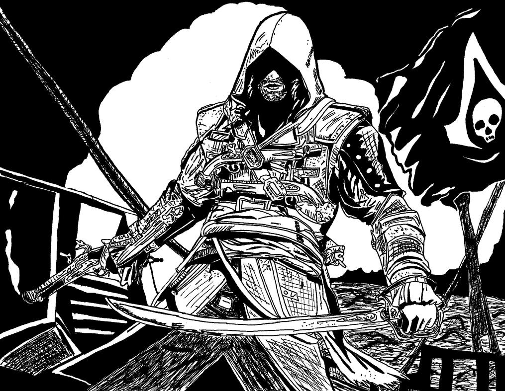 Assassin S Creed Black Flag By Ladyjart On Deviantart