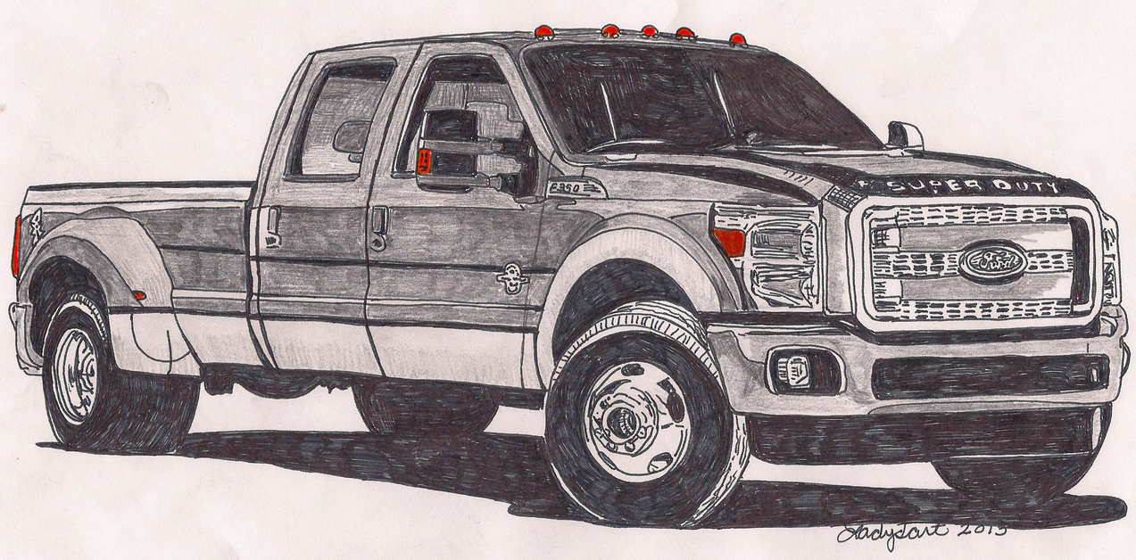 Ford f350 truck by ladyjart