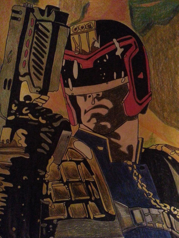 Judge Dredd by ladyjart