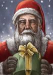 Santa Claus in snowflake