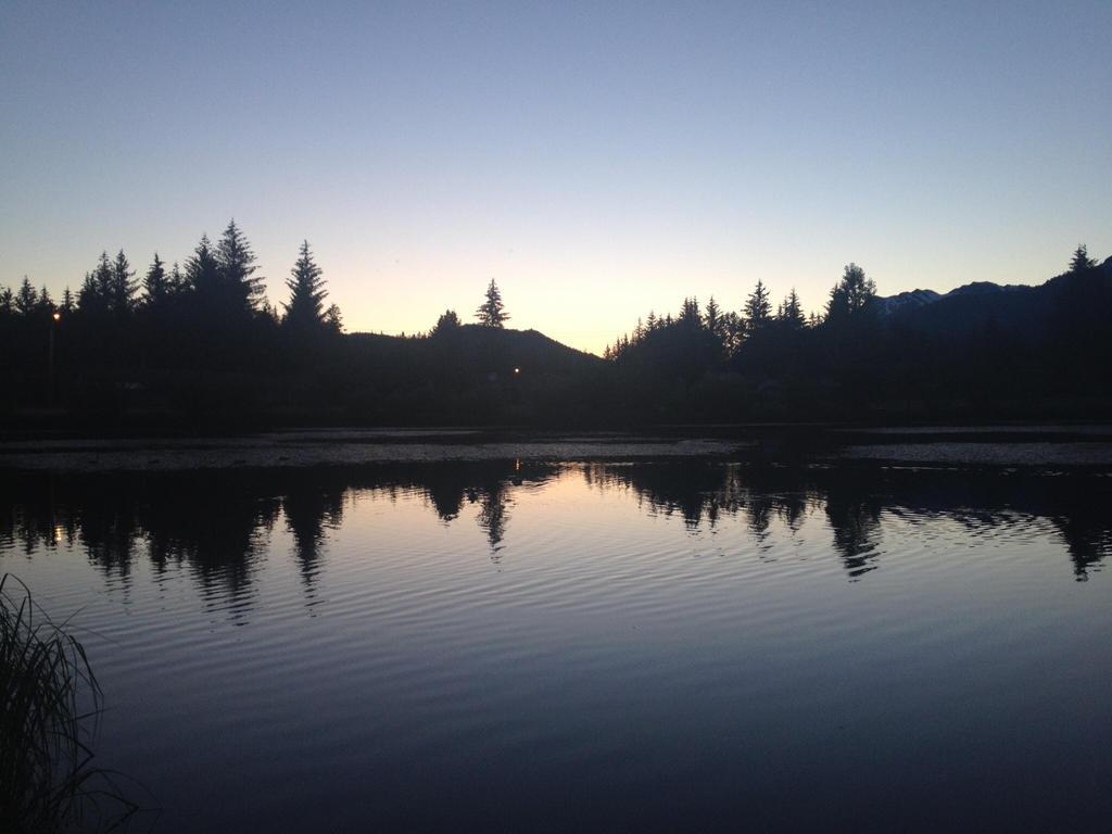 Lake at sunset by LittleBitOfAlaska