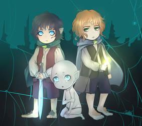 Frodo , Sam and Gollum