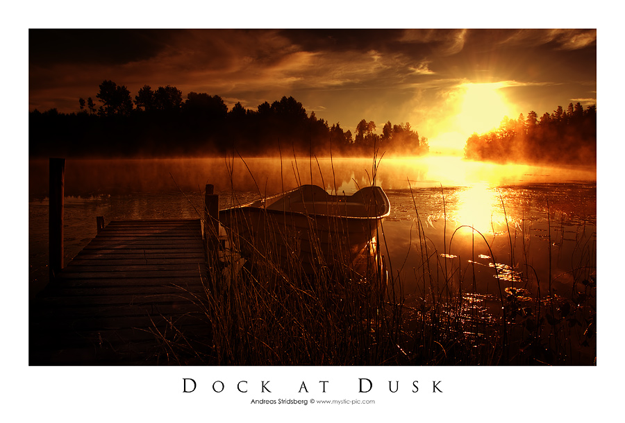 Dock at Dusk by Stridsberg