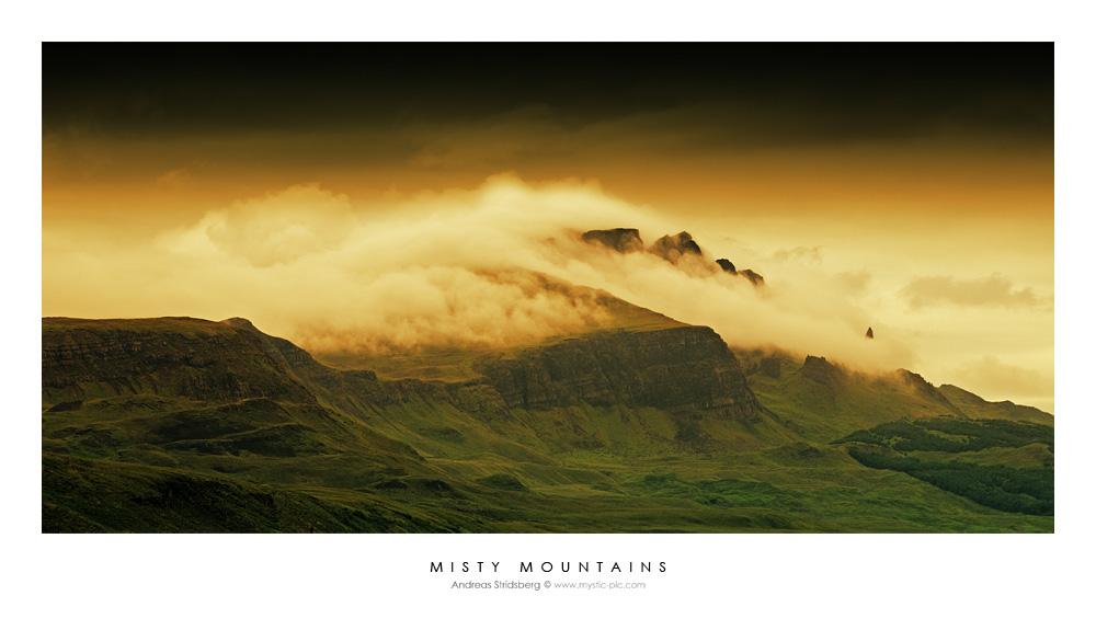 Misty Mountains - Scotland by Stridsberg