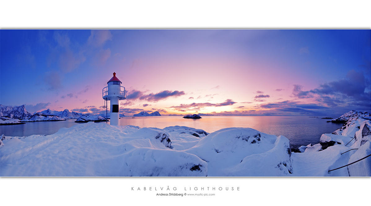 Kabelvag Lighthouse by Stridsberg