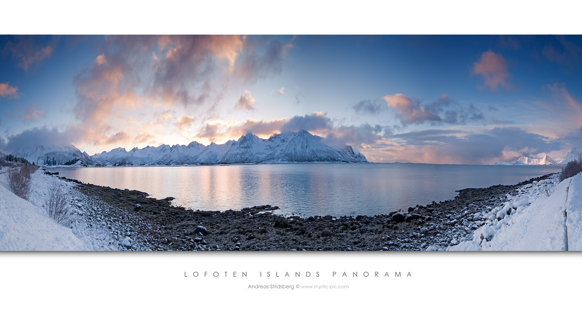 Lofoten Islands Panorama by Stridsberg