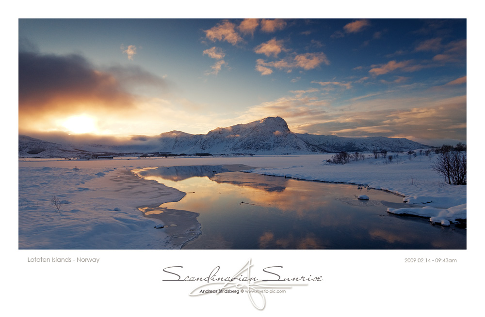 Scandinavian Sunrise - Norway by Stridsberg