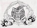 Original Tiger Burst Tattoo Design