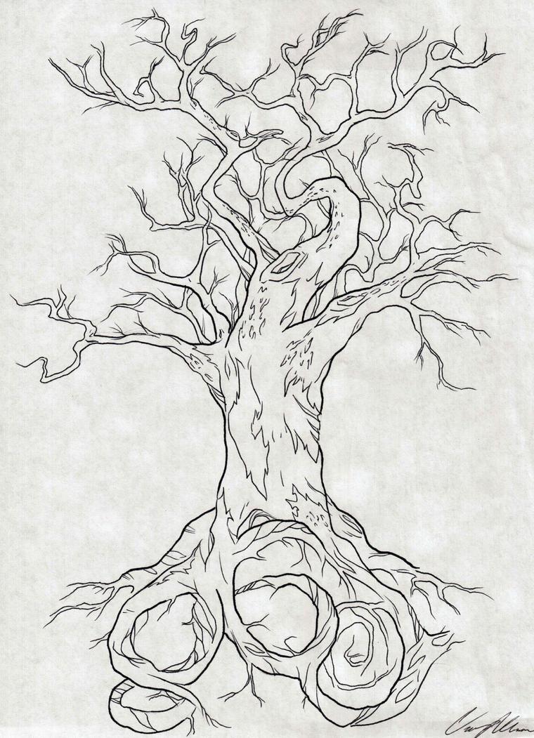 860 tree tattoo design by narcissustattoos on deviantart. Black Bedroom Furniture Sets. Home Design Ideas