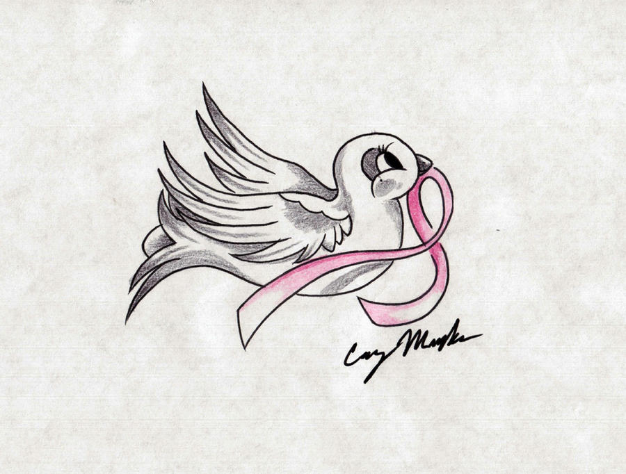 Breast Cancer Dove Tattoo Design By Narcissustattoos On Deviantart