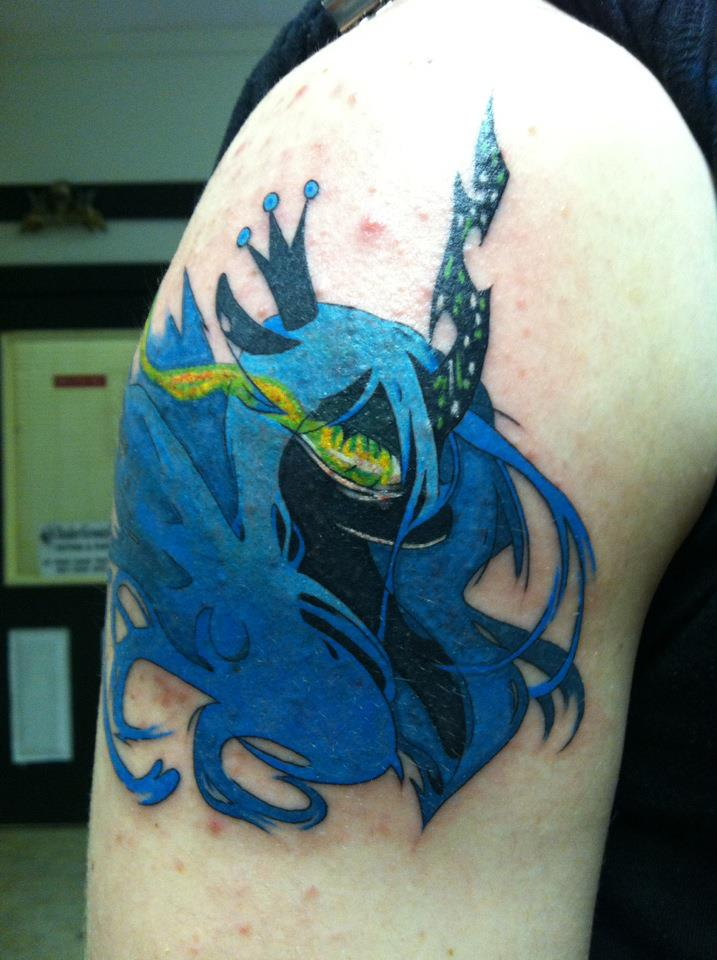 Queen chrysalis tattoo by narcissustattoos on deviantart for My little pony tattoo