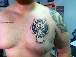 SECOND FFVII Cloud Wolf Tattoo by NarcissusTattoos