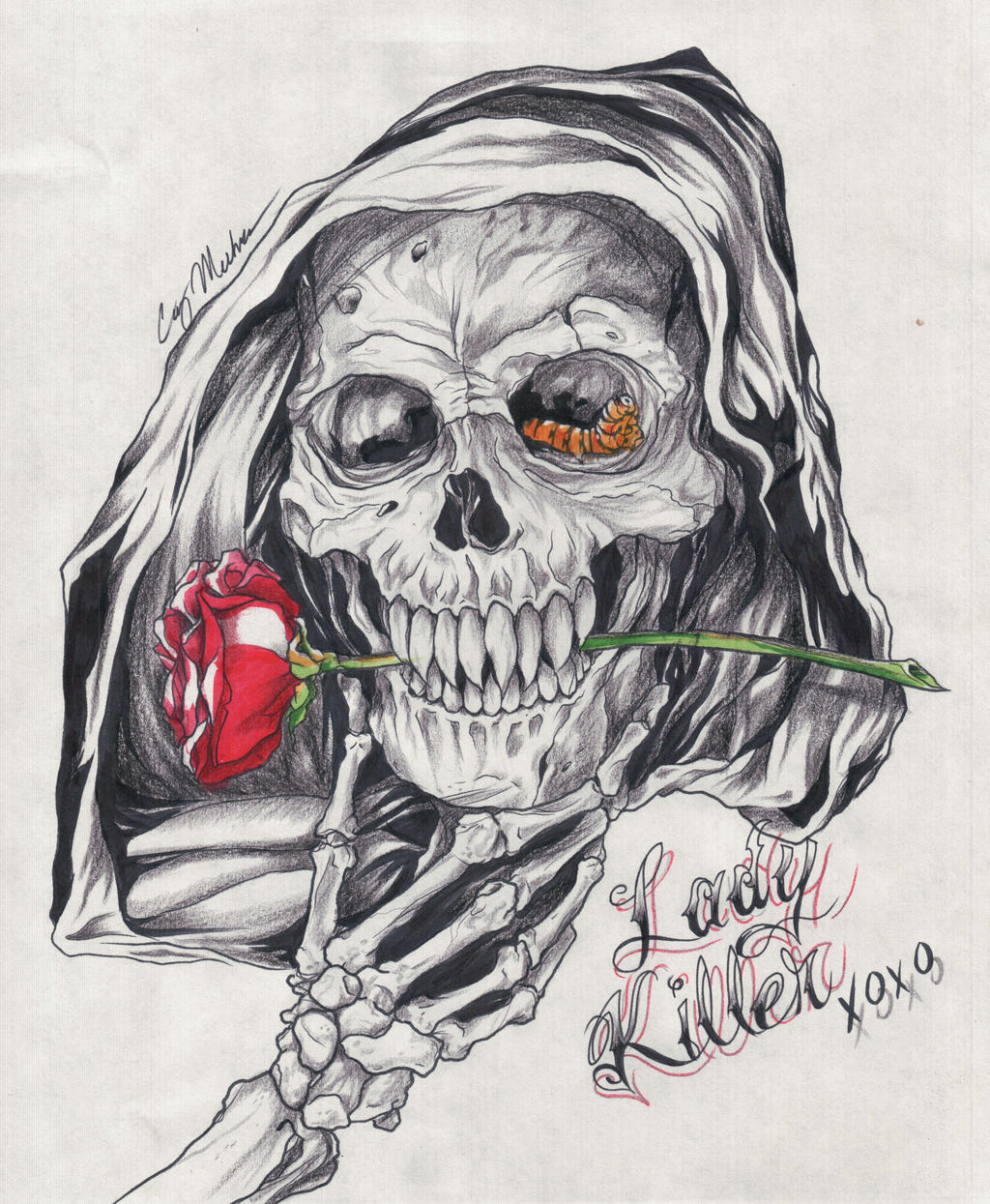 Lady Killer Reaper Tattoo Design By NarcissusTattoos On
