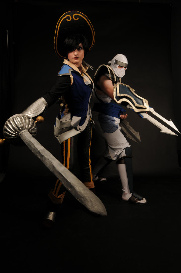 Royalguard Fiora and Shockblade Zed by lncolore