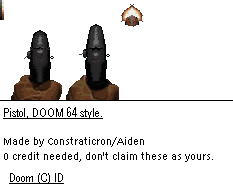 DooM 64 -Custom Pistol Sprites by Constraticron