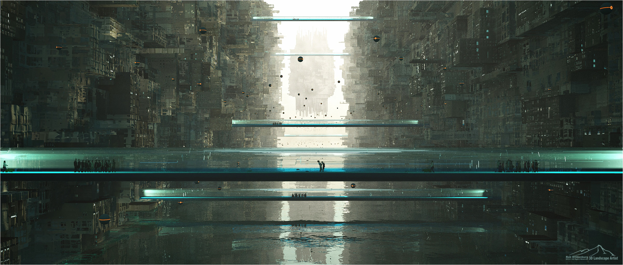 Inhabited Walls Connected by 3DLandscapeArtist