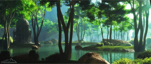 Serene by 3DLandscapeArtist