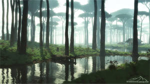 Misty Morning by 3DLandscapeArtist