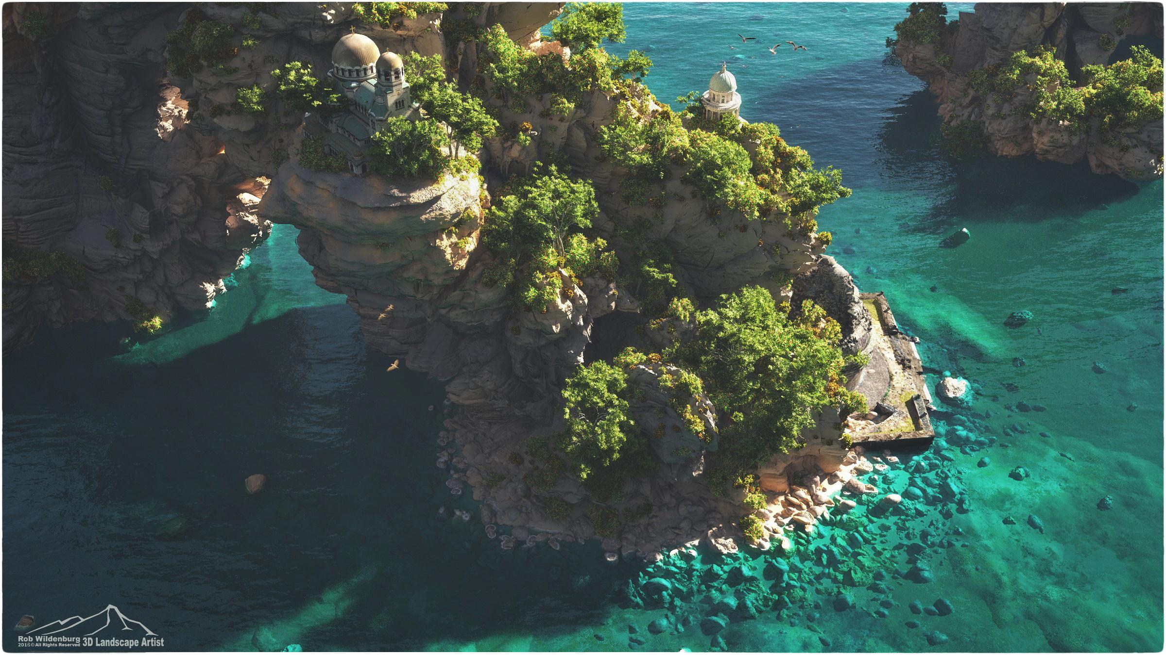 Mediterranean by 3DLandscapeArtist