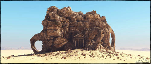 Cathedral Rock by 3DLandscapeArtist