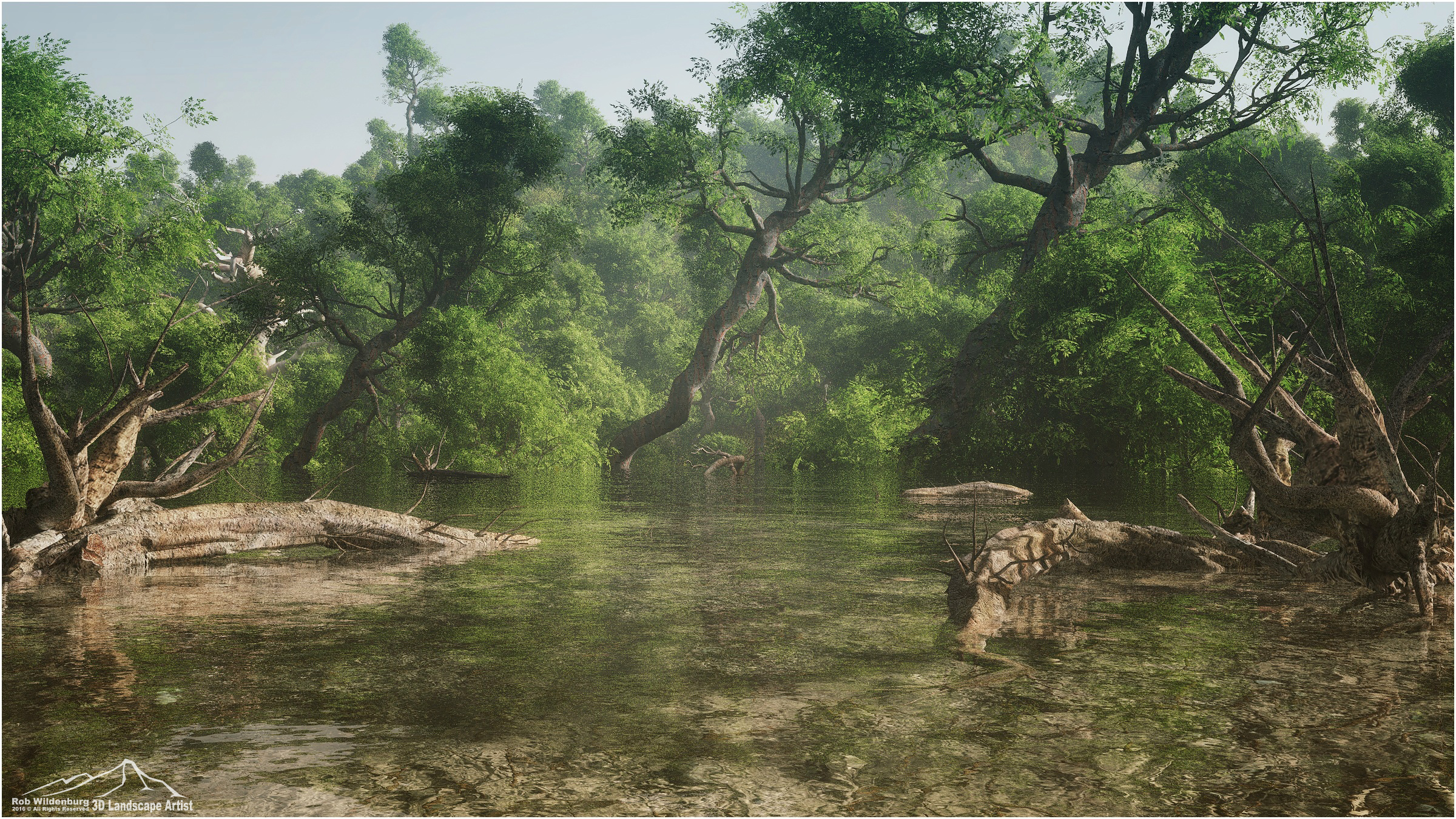 Jungle Pond by 3DLandscapeArtist