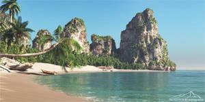 Thailand Beach by 3DLandscapeArtist