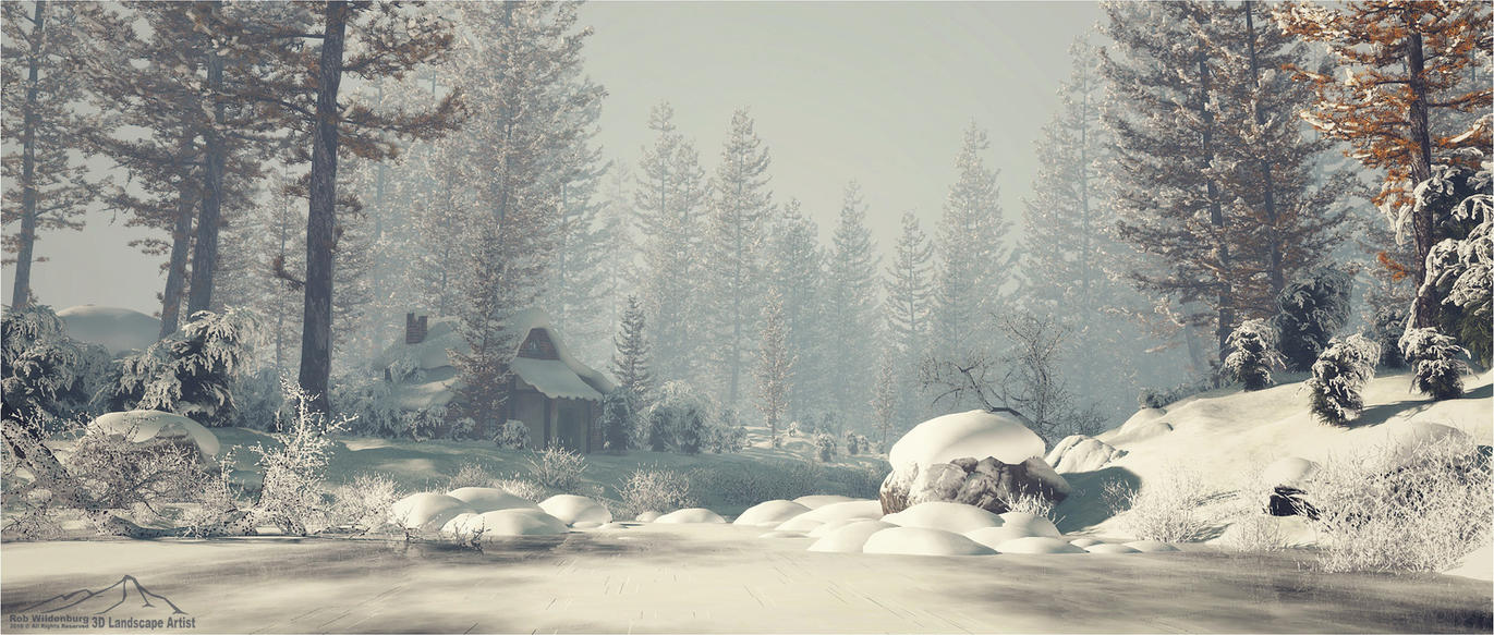 Winter Scene prt. 1 by 3DLandscapeArtist