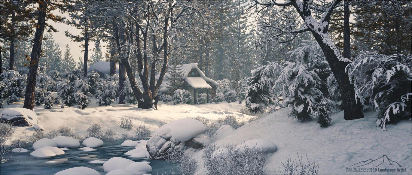 Winter Scene prt. 2 by 3DLandscapeArtist
