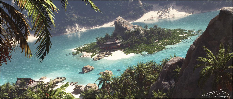 Perfect Hideaway prt. 3: Silent Beach by 3DLandscapeArtist