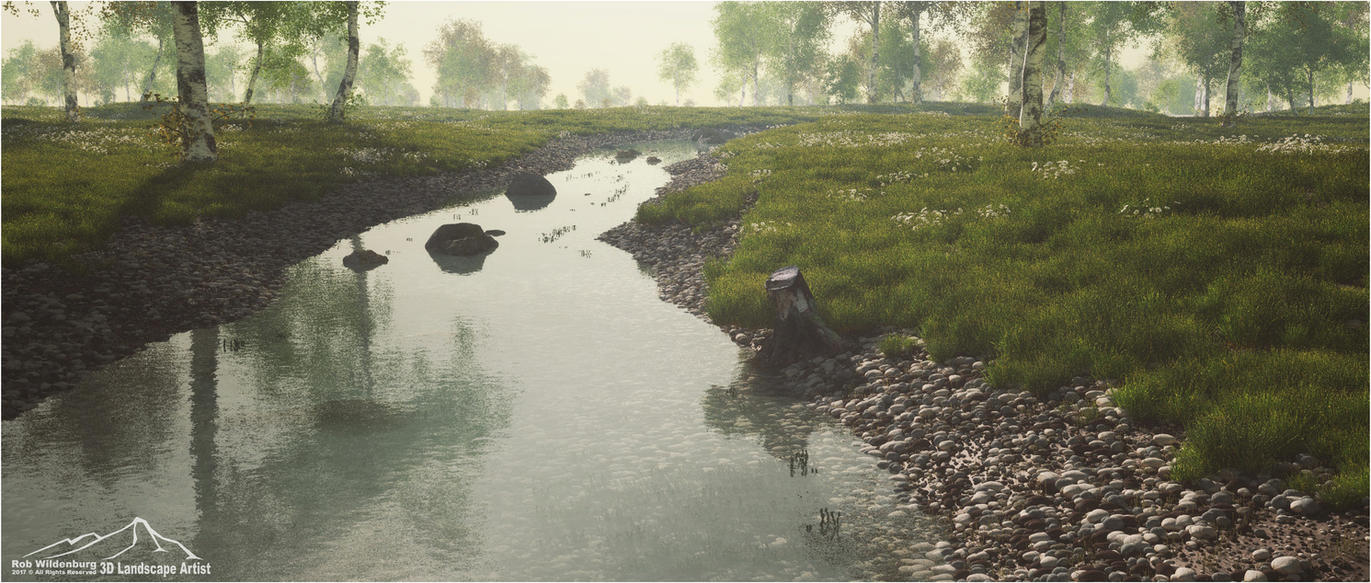Break Of Dawn by 3DLandscapeArtist