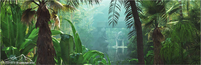 Jungle Pond prt. 1 by 3DLandscapeArtist