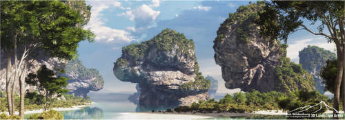 Tropical Scenery Prt. 2 by 3DLandscapeArtist