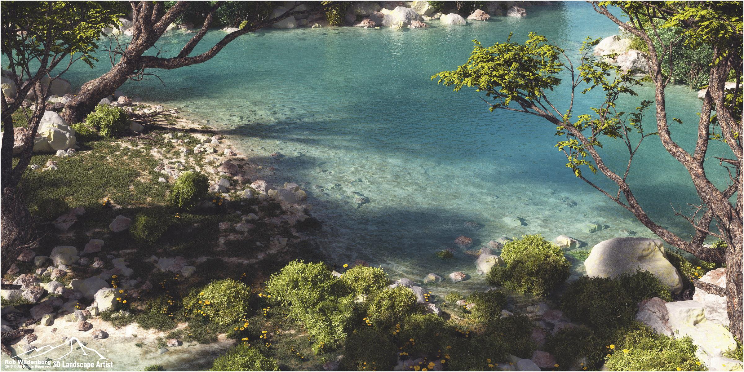 Blue water Creek by 3DLandscapeArtist