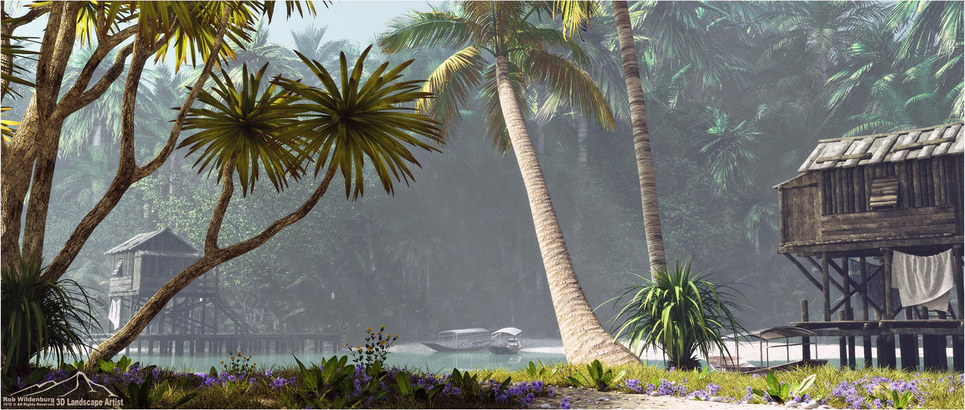 Tropical Hideaway prt. 5 - Tropical Creek by 3DLandscapeArtist