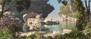 Tropical Scenery prt. 6 - Scattered Rocks by 3DLandscapeArtist