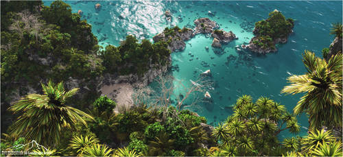 Tropical Scenery prt. 7 - Idyllic Hideaway by 3DLandscapeArtist