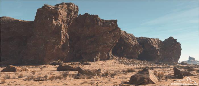 Desert Cliff Front