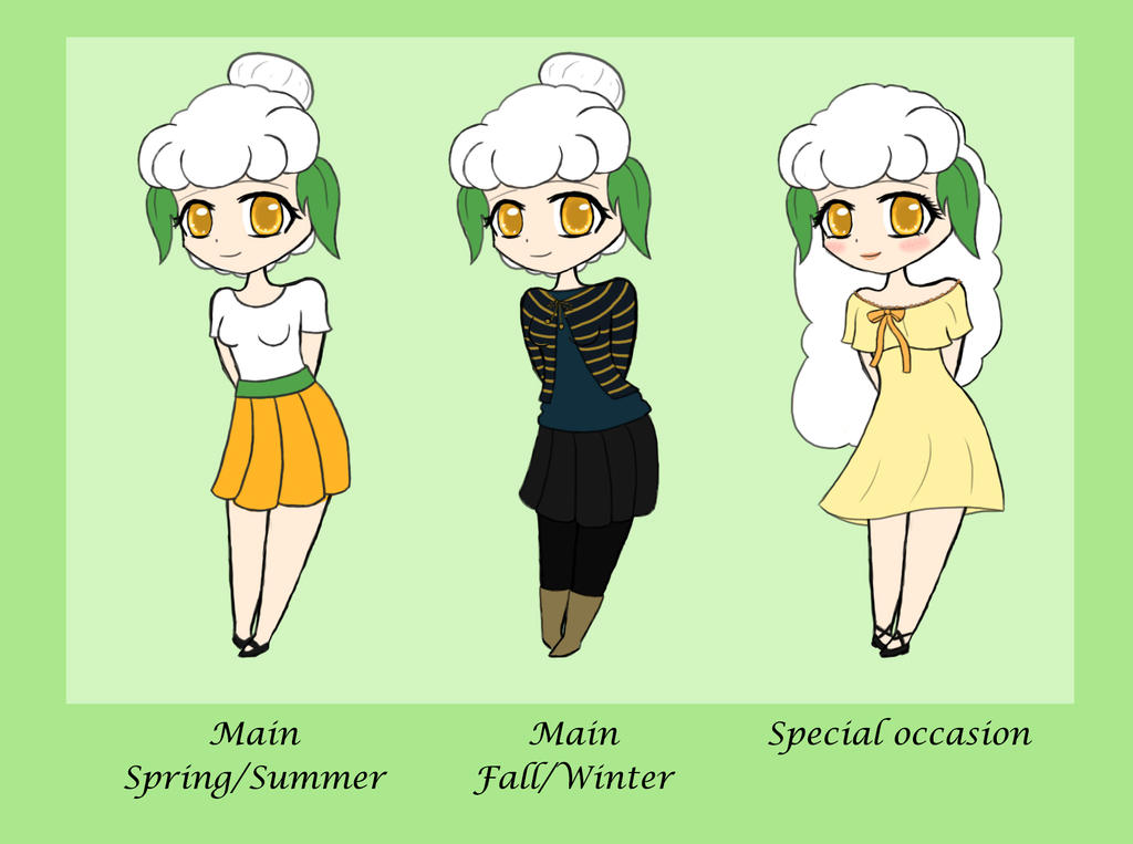Mellany outfits by HyperSweetHappyness