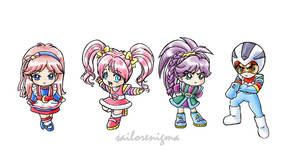 chibi Rainbow Brite friends by lilmiss-sailorenigma