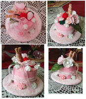 lolita sweet mini cake hat by lilmiss-sailorenigma