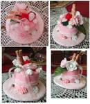 lolita sweet mini cake hat