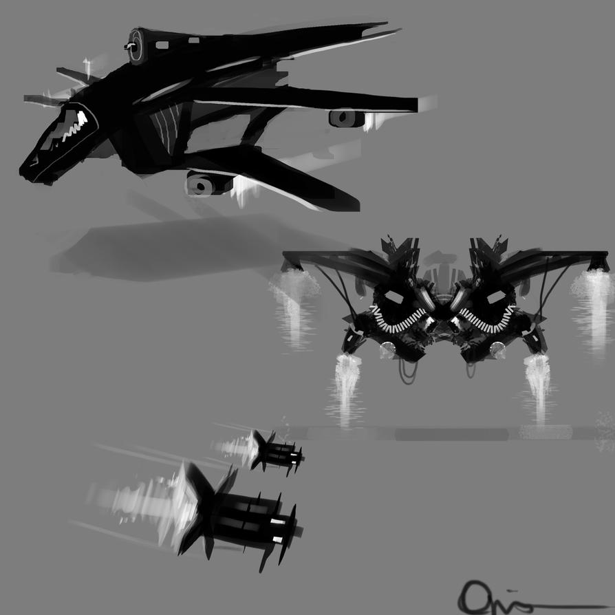Spaceship design by Ojanassassin