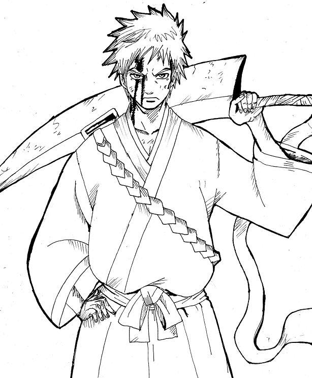 Ichigo Kurosaki - Free Coloring Pages