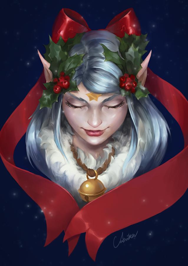 christmas elf by schuhoku